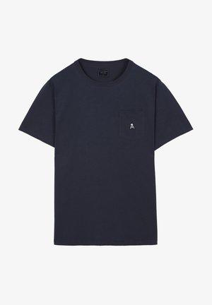 POCKET SKULL TEE - T-shirt basic - navy