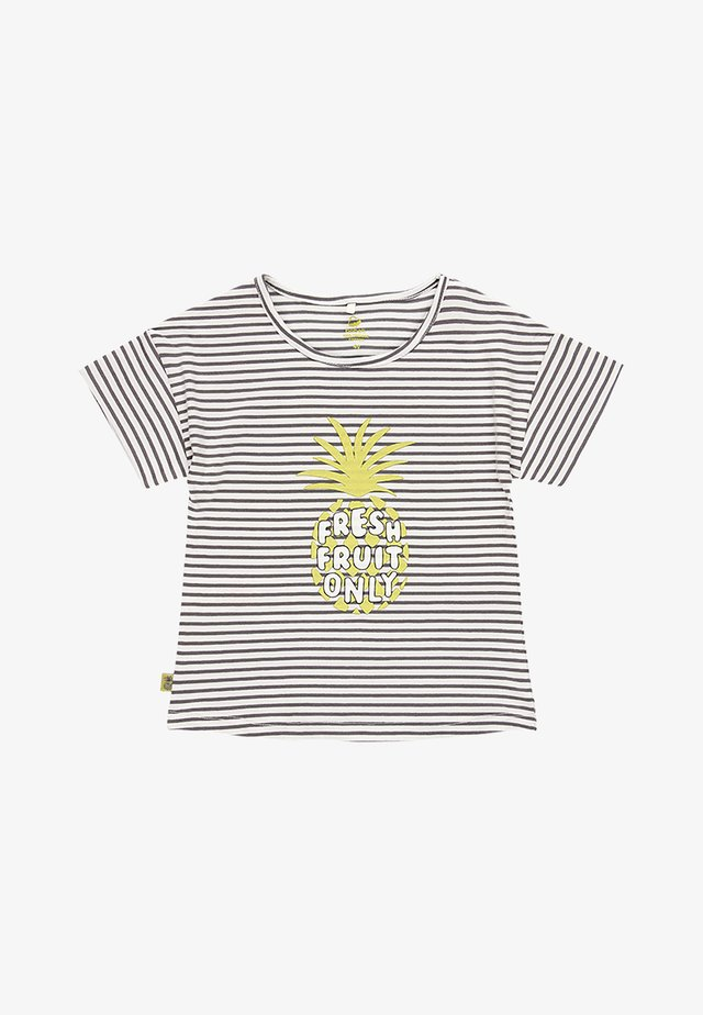 T-shirt imprimé - black white yellow