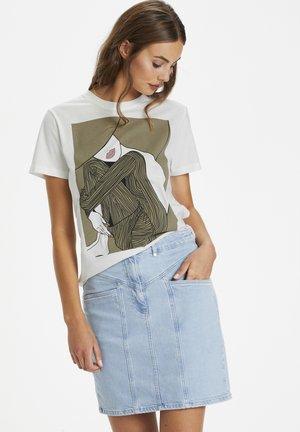SLDAME - Print T-shirt - broken white