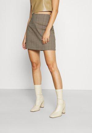 Mini skirt - brown dark
