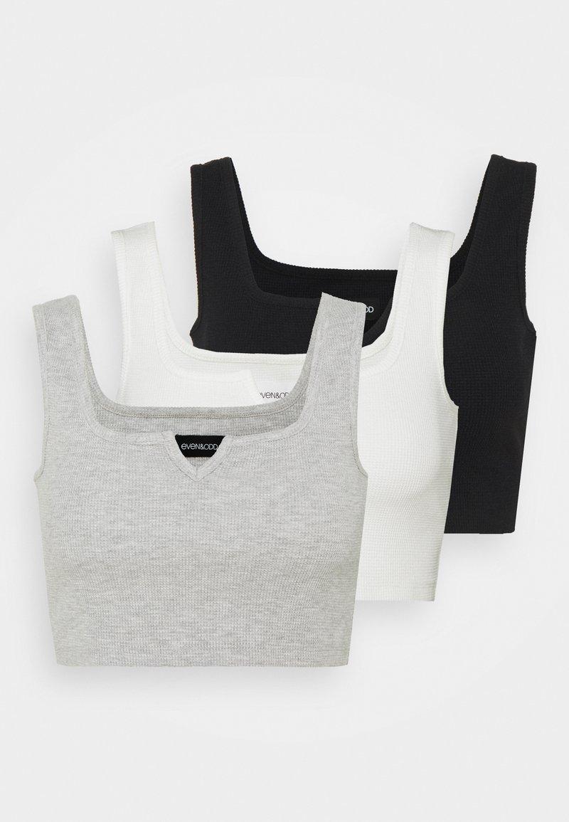 Even&Odd Petite - 3 PACK - Topper - black/white/mottled light grey