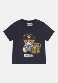 MOSCHINO - Print T-shirt - blue navy - 0