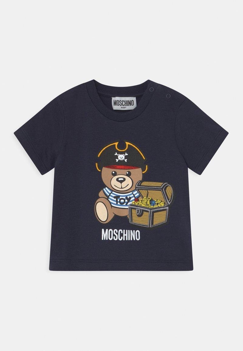 MOSCHINO - Print T-shirt - blue navy