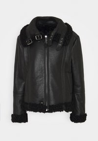 Diesel - EYRE - Leather jacket - black - 5