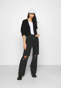 Dr.Denim - ECHO - Jeans a sigaretta - concrete black ripped - 1