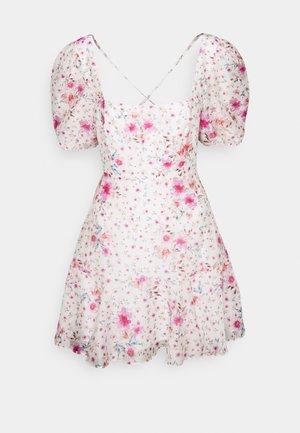 HEATHER SQUARE NECK MINI DRESS - Day dress - rouge