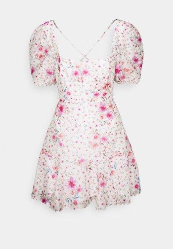 HEATHER SQUARE NECK MINI DRESS - Kjole - rouge