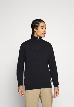 JORELI HIGH NECK ZIP - Stickad tröja - dark blue