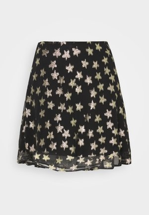 LOT SKIRT - Miniskjørt - black/gold