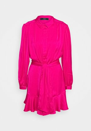 Shirt dress - shocking pink