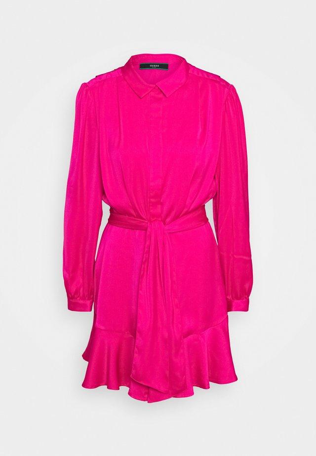 Abito a camicia - shocking pink