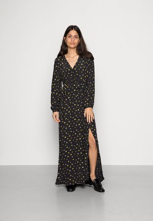 ALICIA LEMON DRESS - Vestito lungo - black