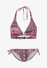 s.Oliver - TRIANGEL SET - Bikini - black/orange - 4