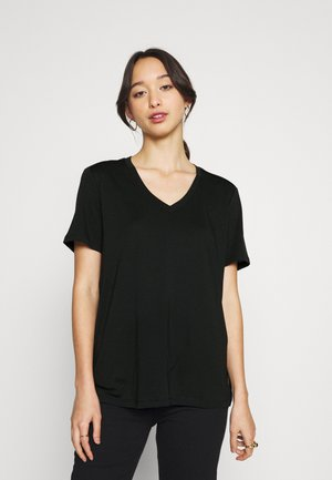 V NECK PLUS - T-shirt basic - black