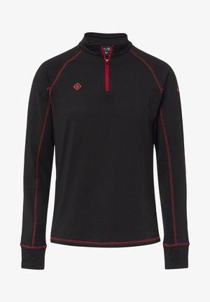 GORNER - T-shirt à manches longues - black red