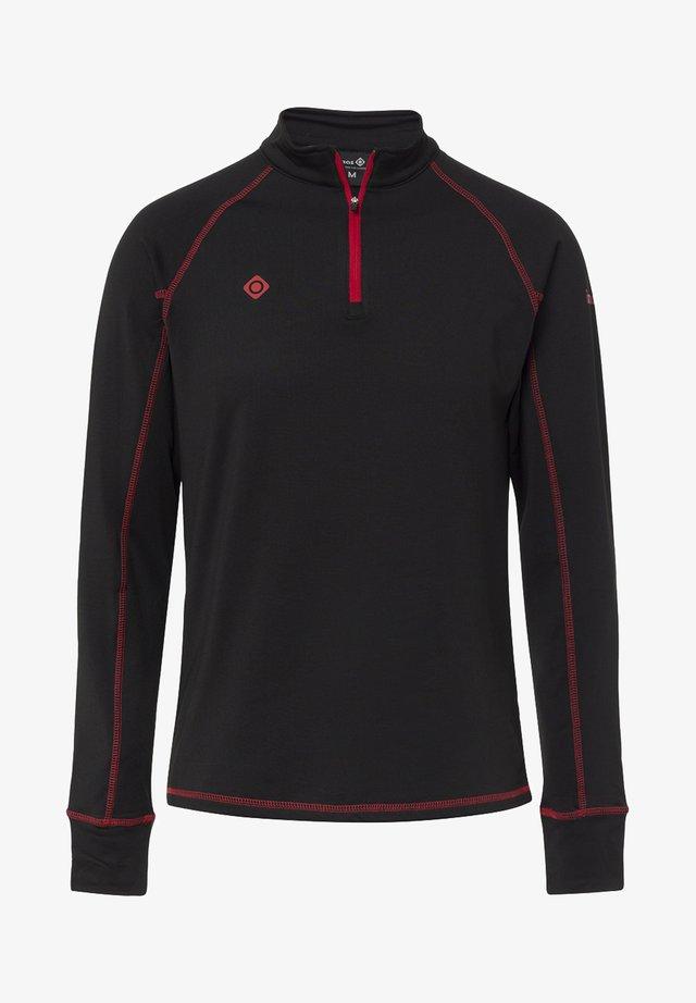 GORNER - Long sleeved top - black red