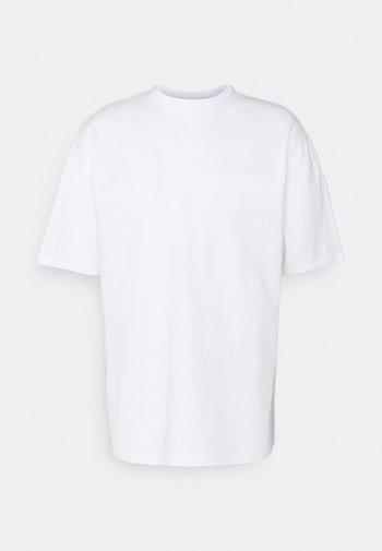 PEACOCK UNISEX - T-shirt med print - white