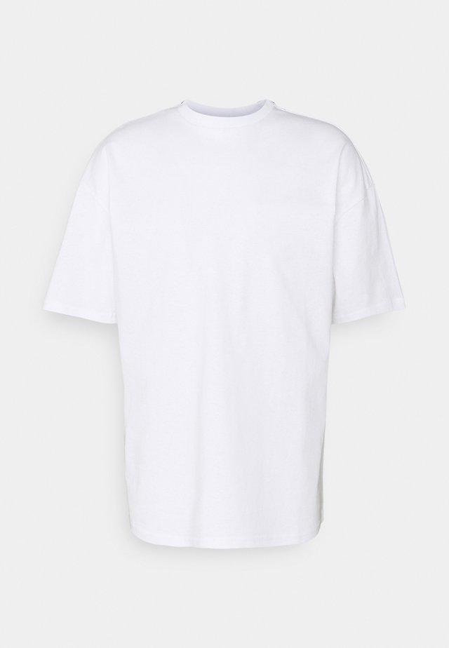 PEACOCK UNISEX - T-shirt imprimé - white
