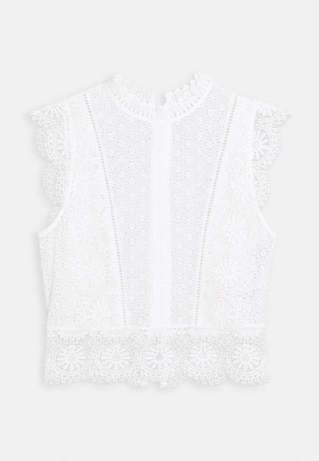 BROHDEN BRODERIE CROP - Blouse - porcelain