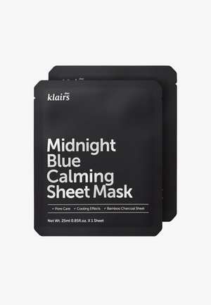 MIDNIGHT BLUE CALMING MASK 25ML 2 MASK PACK - Masque visage - -