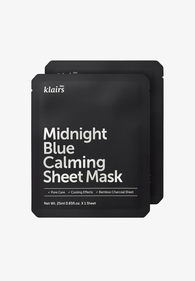 klairs - MIDNIGHT BLUE CALMING MASK 25ML 2 MASK PACK - Face mask - -