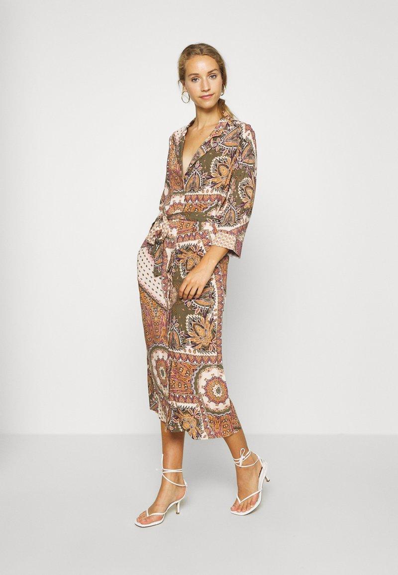 Object - OBJSUN LONG DRESS - Sukienka letnia - burnt olive
