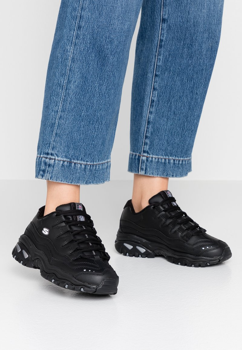 Skechers Wide Fit - WIDE FIT ENERGY - Trainers - black smooth