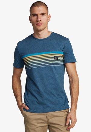 Print T-shirt - majolica blue heather