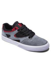 DC Shoes - KALIS VULC UNISEX - Trainers - black/grey/red - 1