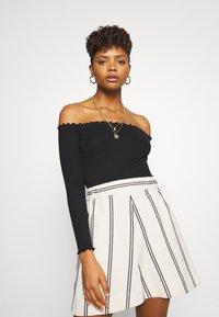 Even&Odd - 2 PACK - Long sleeved top - black/white - 1
