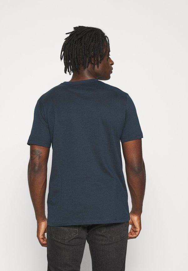 AllSaints BRACE CONTRAST CREW - T-shirt basic - sapphire blue/niebieski Odzież Męska TPUH