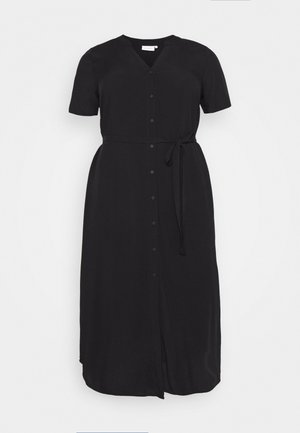 CARTUKZU CALF SHIRT DRESS - Shirt dress - black