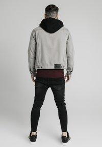 SIKSILK - WITH DETACHABLE HOOD - Denim jacket - grey - 2