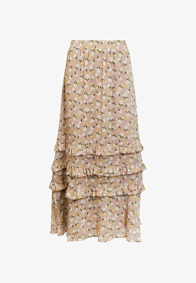 Maxi skirt - warm taupe