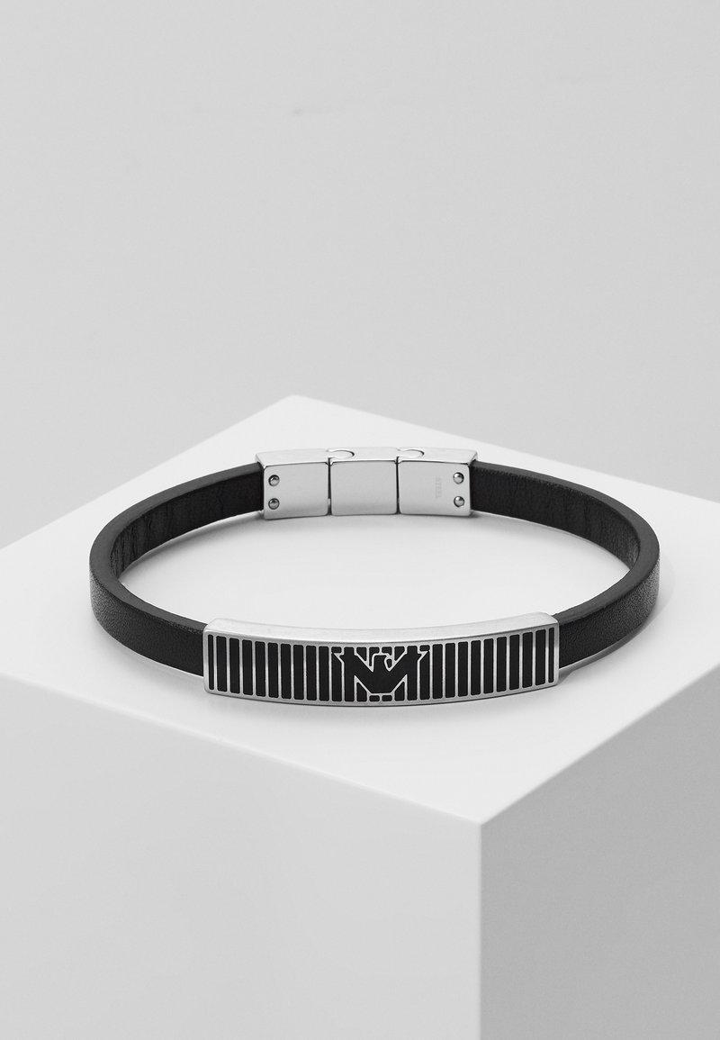 Emporio Armani - LOGO PLAY BRACELET - Bracelet - silver-coloured