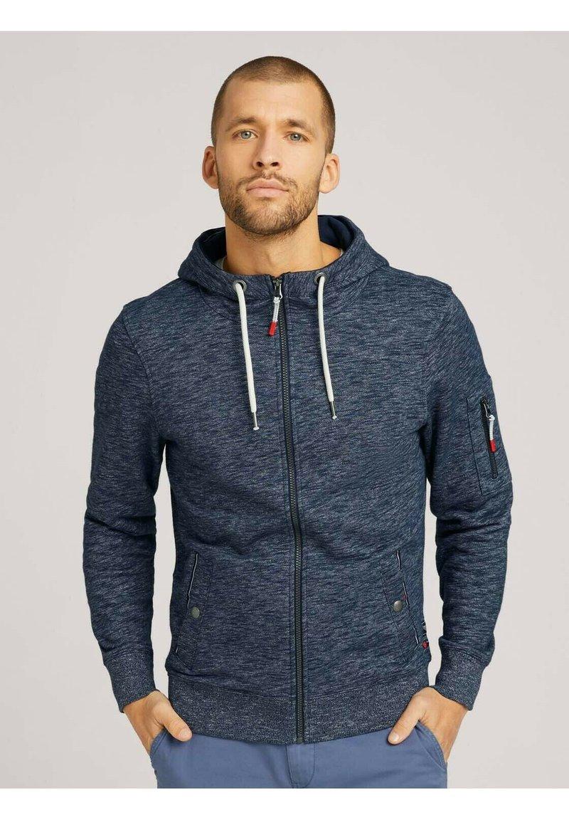 TOM TAILOR - Zip-up hoodie - dark blue