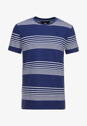 LOAM STRAIGHT - T-shirts med print - imperial blue/milk stripe