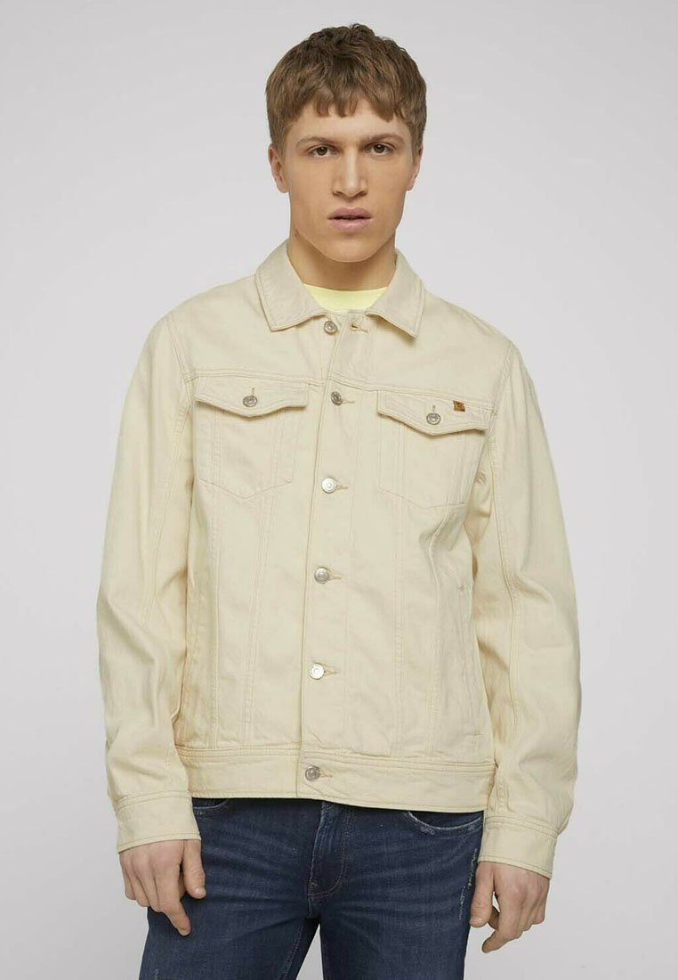 TOM TAILOR DENIM - Denim jacket - unbleached natural bull denim