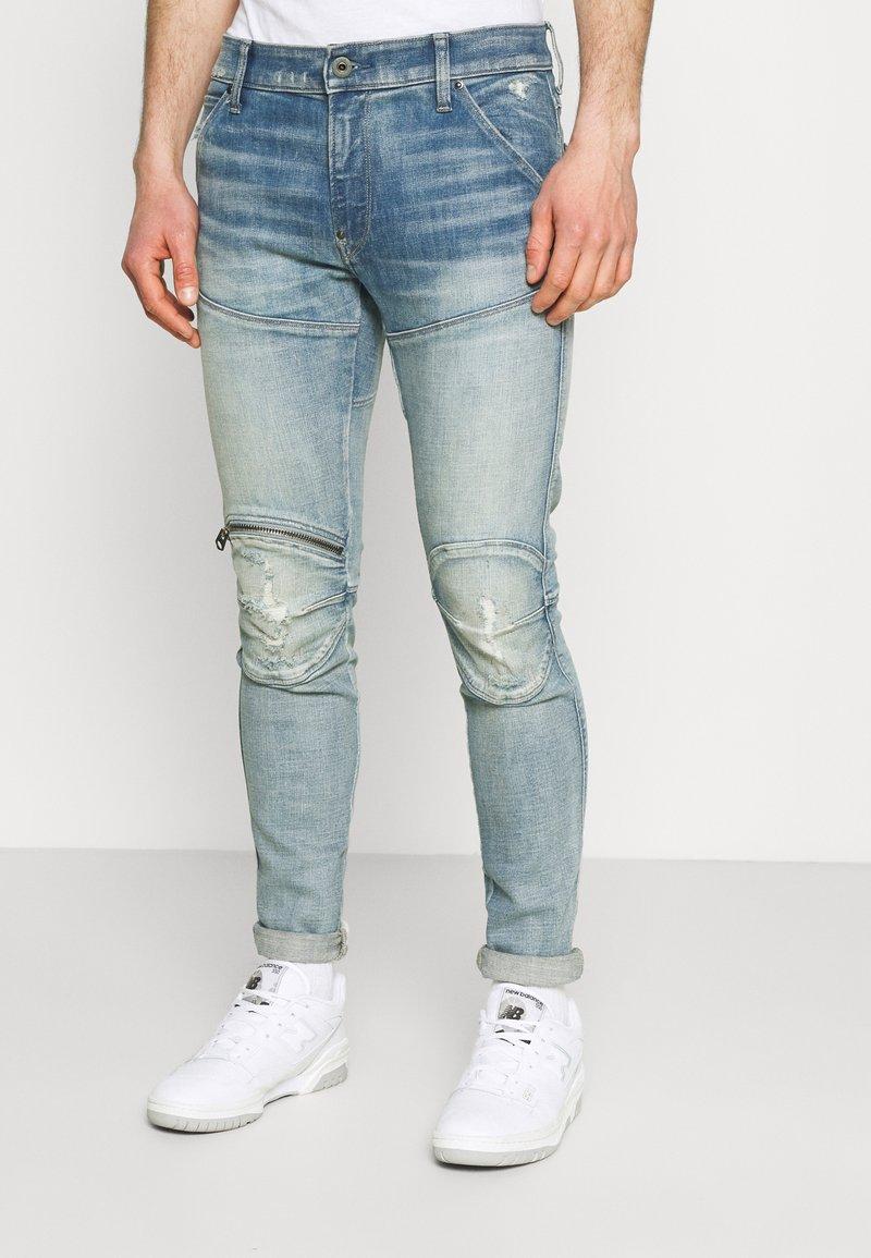 G-Star - 5620 3D ZIP KNEE SKINNY - Jeans Skinny Fit - vintage cool aqua destroyed
