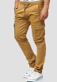 INDICODE JEANS - BROADWICK - Cargo trousers - camel - 3