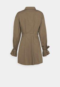 Missguided - TIE CUFF BALLOON SKATER - Shirt dress - khaki - 1