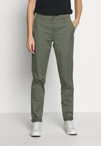 Esprit - Pantalones chinos - khaki green - 0