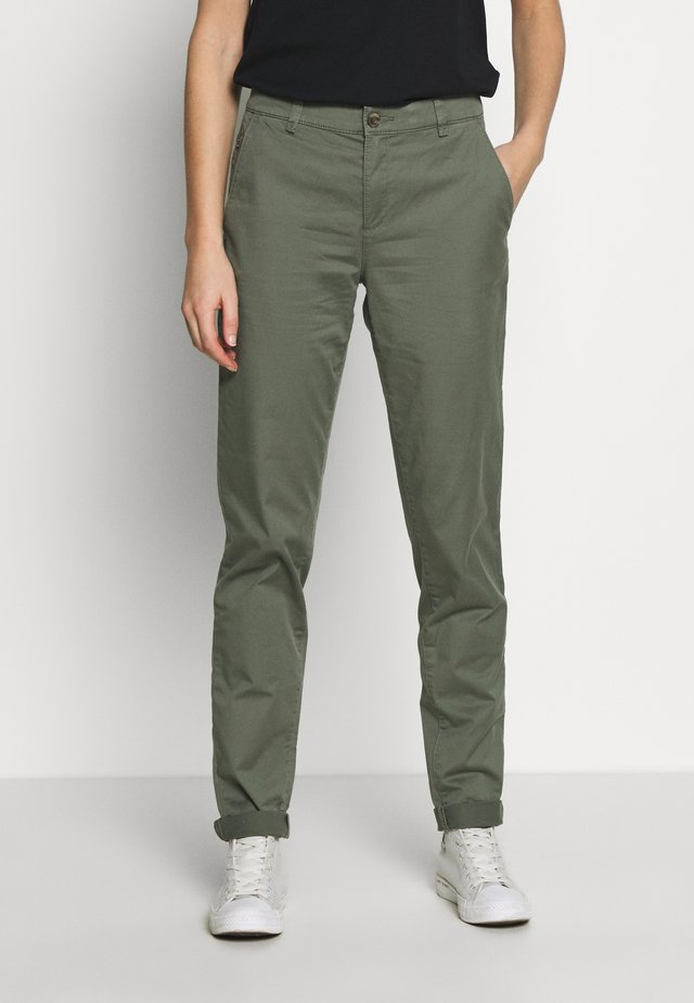 Chinosy - khaki green