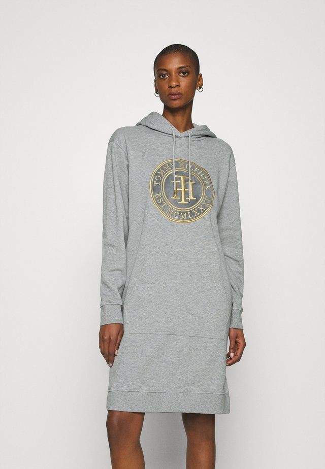 HOODIE DRESS - Day dress - light grey heather