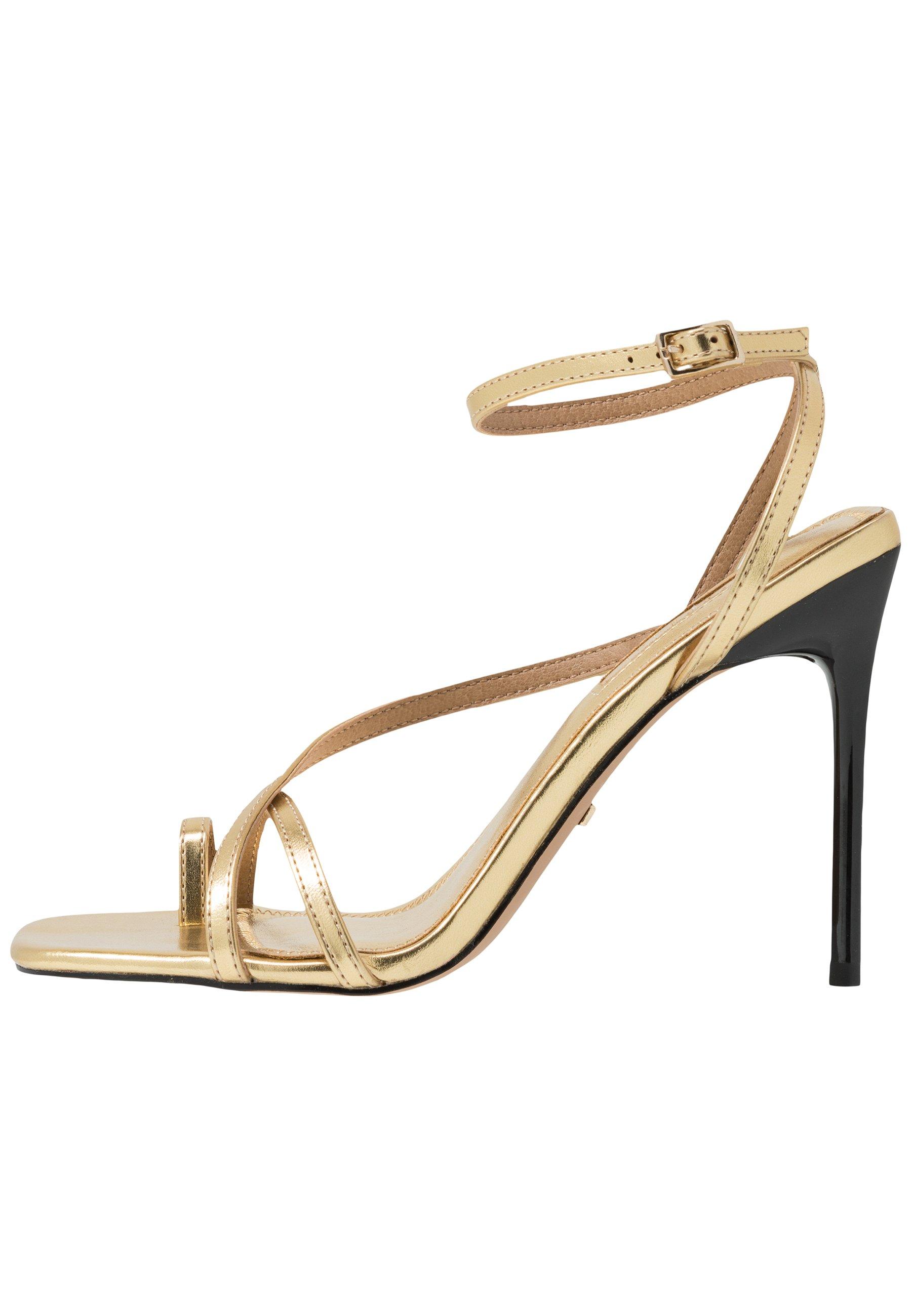 Topshop RISE STRAPPY Sandaletter gold Zalando.se