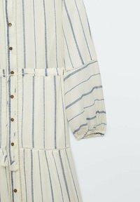 Massimo Dutti - STREIFEN - Maxi dress - white - 5