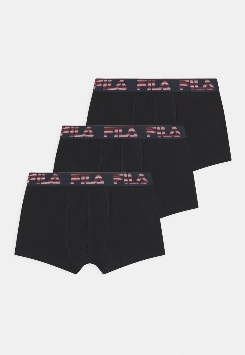 Fila - BOYS LOGO 3 PACK - Boxerky - black