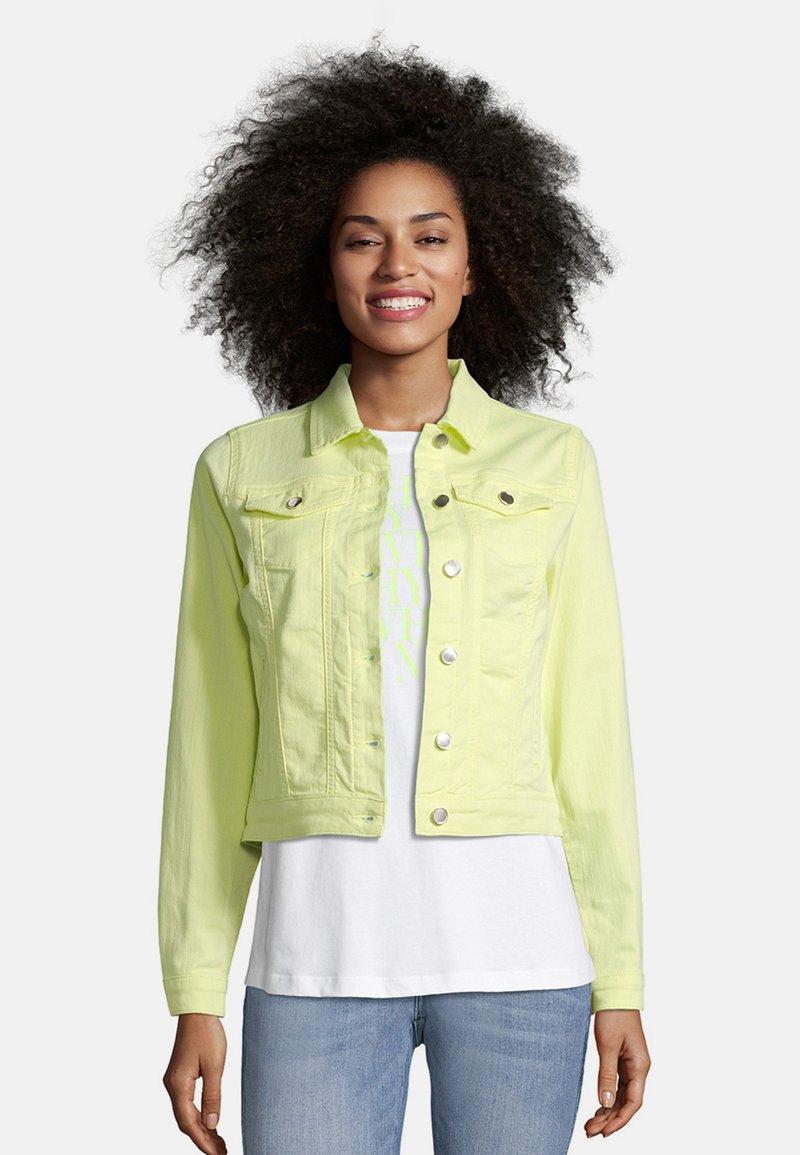 Cartoon - Denim jacket - neon lemon