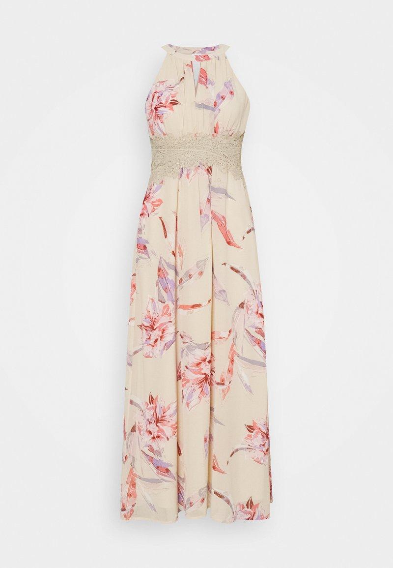VILA PETITE - VIMILINA FLOWER MAXI DRESS - Maxi dress - birch/lana
