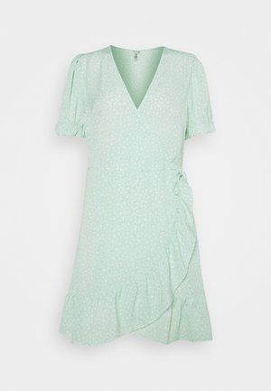 PRINTED WRAP DRESS - Day dress - green
